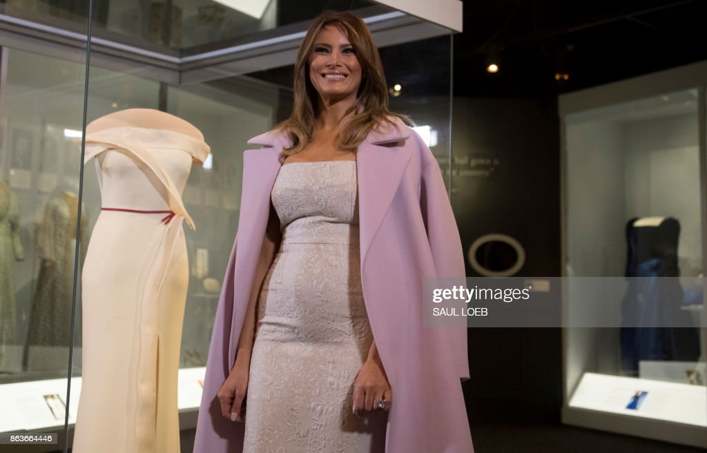 Melania Trump Presents Her Inaugural Gown To Smithsonian Museum