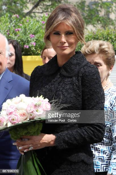 First Lady Melania Trump Visits the Paediatric Hospital Bambin Ges on May 24 2017 Rome Italy