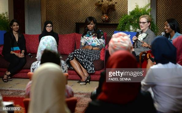 Image result for First Lady Michelle Obama and Meryl Streep getty image