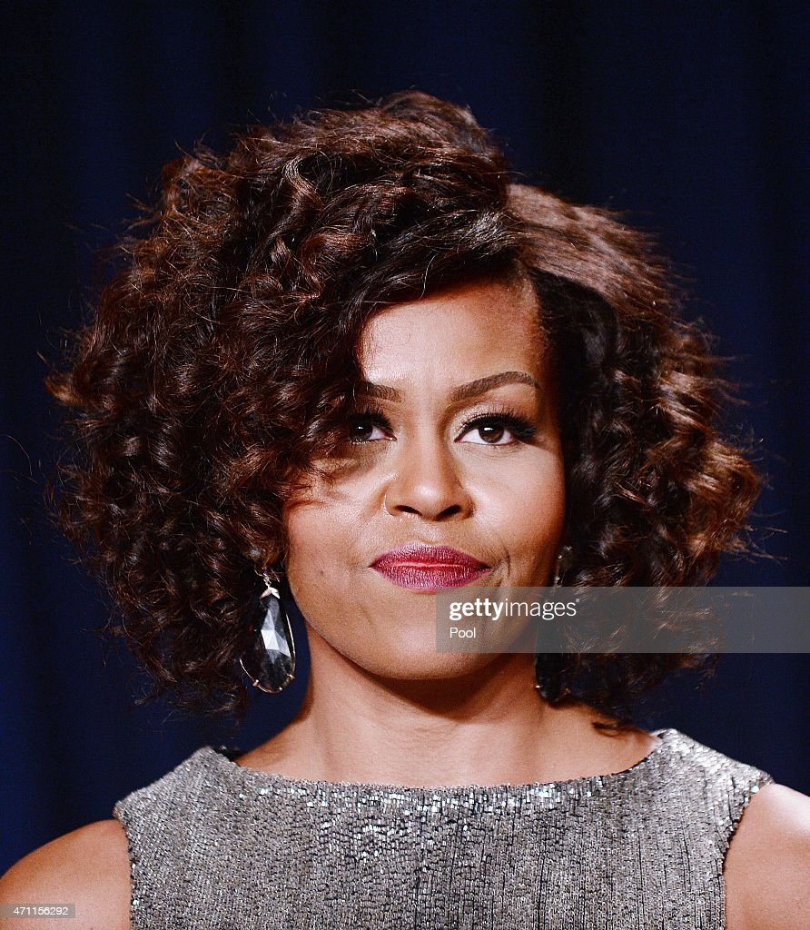 US First Lady <a gi-track='captionPersonalityLinkClicked' href=/galleries/search?phrase=Michelle+Obama&family=editorial&specificpeople=2528864 ng-click='$event.stopPropagation()'>Michelle Obama</a> attends the annual White House Correspondent's Association Gala at the Washington Hilton hotel April 25, 2015 in Washington, D.C. The dinner is an annual event attended by journalists, politicians and celebrities.