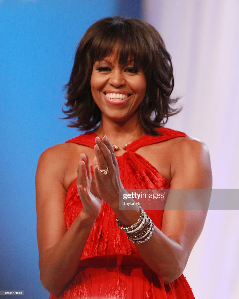 First Lady Michelle Obama attends the Inaugural Ball on January 21 2013 in Washington United States