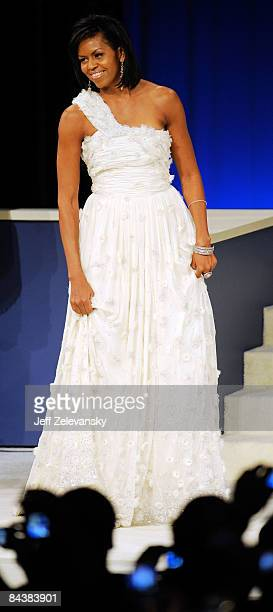 First Lady Michelle Obama attends the Western Inaugural Ball on January 20 2009 in Washington DC Obama was sworn in as the 44th President of the...