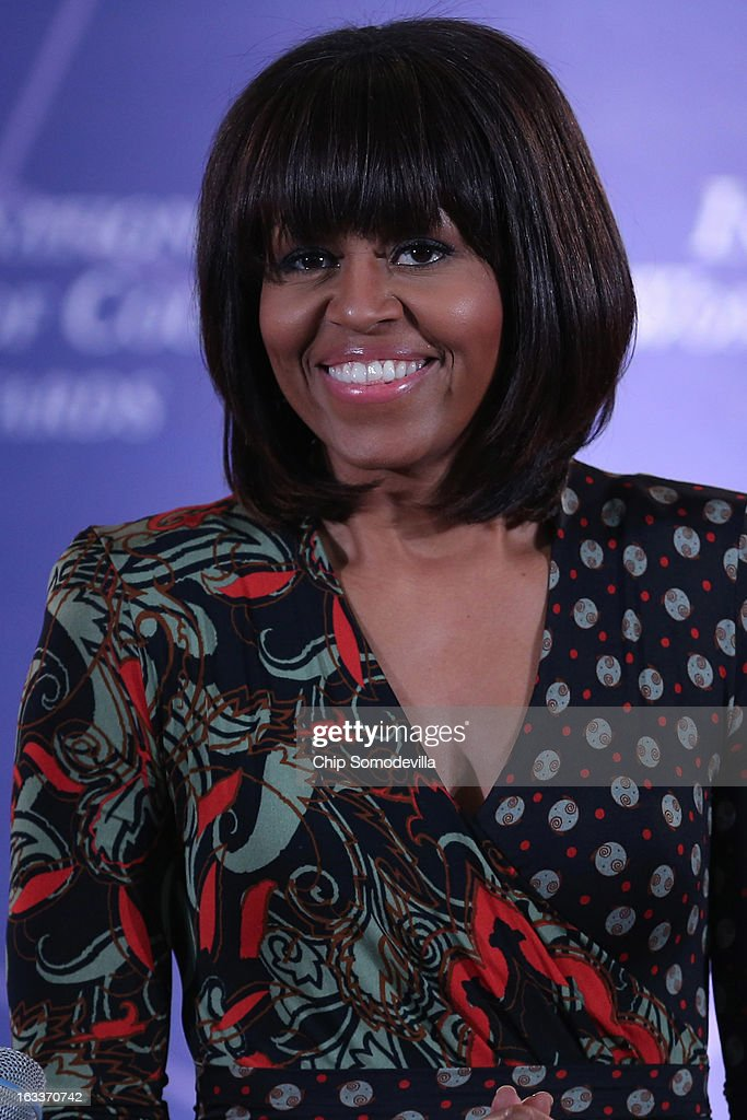 U.S. first lady <a gi-track='captionPersonalityLinkClicked' href=/galleries/search?phrase=Michelle+Obama&family=editorial&specificpeople=2528864 ng-click='$event.stopPropagation()'>Michelle Obama</a> delivers remarks at the International Women of Courage Awards Ceremony at the State Department March 8, 2013 in Washington, DC. In celebration of the 102nd International Women's Day, the State Department honored nine women from around the world with the International Women of Courage Award, including the 23-year-old Indian woman known only as 'Nirbhaya,' who died from injuries she received after being gang raped by six men last December in Delhi.