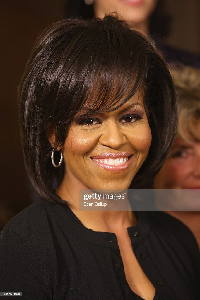 U.S. First Lady <a gi-track='captionPersonalityLinkClicked' href=/galleries/search?phrase=Michelle+Obama&family=editorial&specificpeople=2528864 ng-click='$event.stopPropagation()'>Michelle Obama</a> poses with other first ladies at the spouses' evening at the opening of the NATO summit on April 3, 2009 in Baden Baden, Germany. Heads of state, foreign ministers and defence ministers of the 28 NATO member countries are participating in the summit from April 3-4 in Strasbourg, Kehl and Baden Baden to mark the 60th anniversary of the transatlantic military and political organization.
