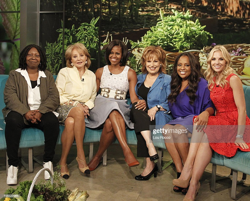 THE VIEW - First Lady Michelle Obama sits down with 'The View' hosts Barbara Walters, Whoopi Goldberg, Joy Behar, Elisabeth Hasselbeck and Sherri Shepherd today, TUESDAY, MAY 29 (11:00 a.m. -12:00 noon., ET). The First Lady will discuss her new book, 'American Grown: The Story of the White House Kitchen Garden and Gardens Across America', and her message that having access to healthy, affordable food can promote better eating habits. 'The View' airs Monday-Friday (11:00 a.m.-12:00 noon., ET) on the ABC Television Network. HASSELBECK