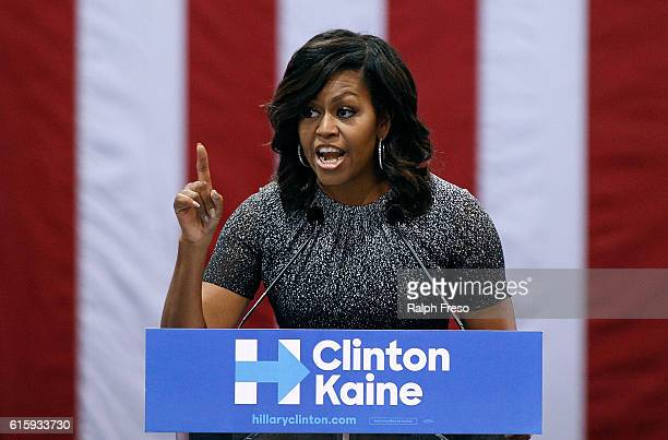 First Lady Michelle Obama speaks at an Arizona Democratic Party Early Vote rally in support of Democratic presidential nominee Hillary Clinton and...