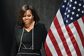 First Lady Michelle Obama speaks during a 'Let Girls Learn' event during the Spring Meetings of the World Bank Group and the International Monetary...