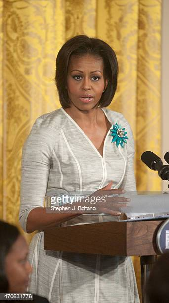First Lady Michelle Obama speaks on Military Spouse Appreciation Day and MotherÕs Day event for military connected mothers grandmothers and spouses...