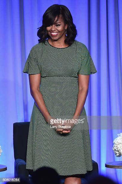 First Lady Michelle Obama speaks onstage at the American Magazine Media Conference at Grand Hyatt New York on February 2 2016 in New York City