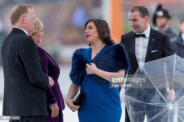 First Lady of Iceland Eliza Jean Reid and President of Iceland Gudni Johannesson arrives at the Opera House on the occasion of the celebration of...