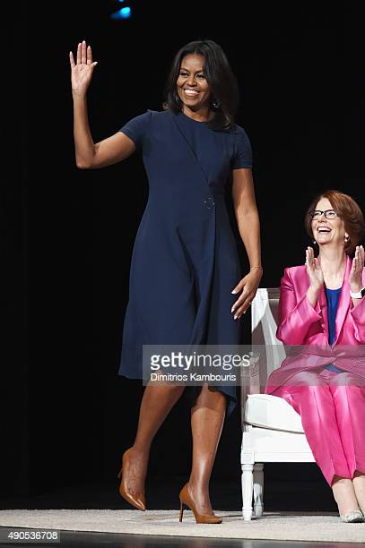 First Lady of the United States Michelle Obama and Former Australian Prime Minister Julia Gillard join Glamour 'The Power Of An Educated Girl' panel...