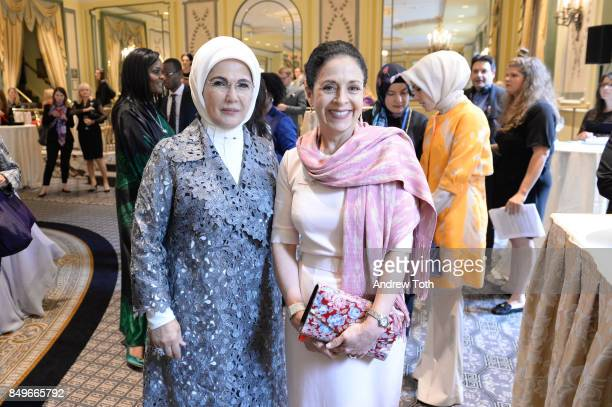 First Lady of Turkey Emine Erdogan attends Fashion 4 Development's 7th Annual First Ladies Luncheon at The Pierre Hotel on September 19 2017 in New...