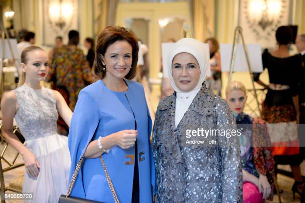 First Lady of Turkey Michelle Muscat and First Lady of Turkey Emine Erdogan attend Fashion 4 Development's 7th Annual First Ladies Luncheon at The...