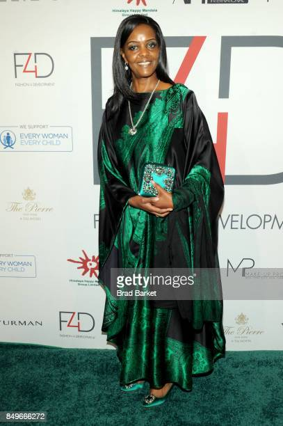 First Lady of Zimbabwe Grace Mugabe attends Fashion 4 Development's 7th Annual First Ladies Luncheon at The Pierre Hotel on September 19 2017 in New...