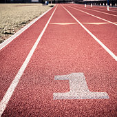 First lane on athletic track