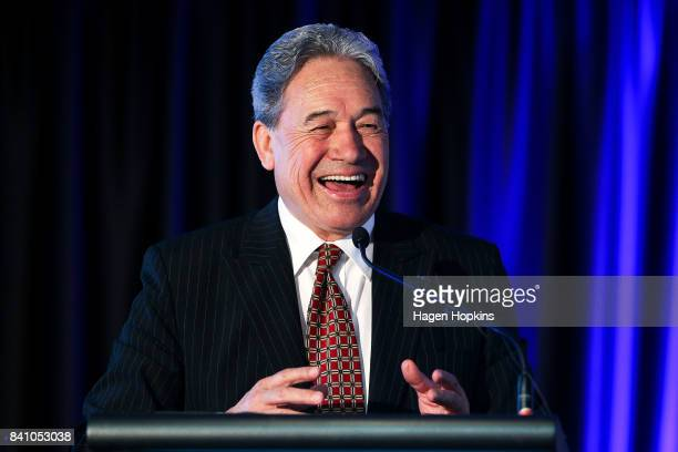 First leader Winston Peters speaks during the Economic Development Agencies of New Zealand Conference at Rydges Hotel on August 31 2017 in Wellington...