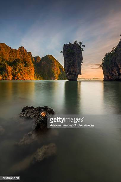 First light at James bond island.