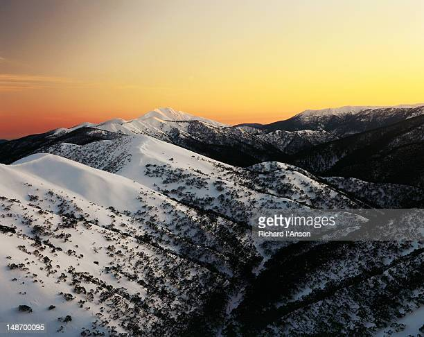 First light on Mt Feathertop.