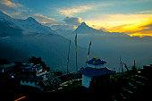 First Light over Tadapani, Nepal