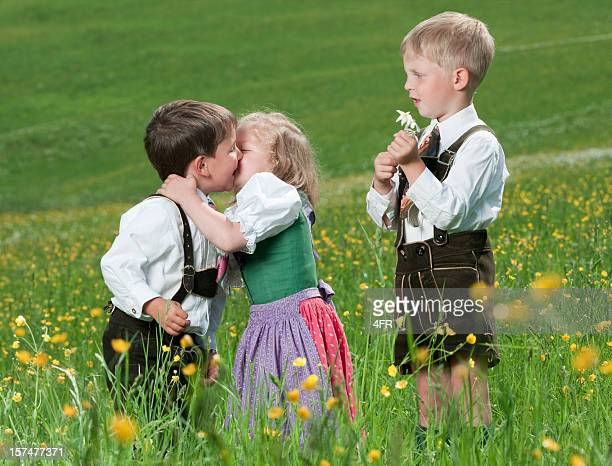 First Love, Children in traditional Tracht