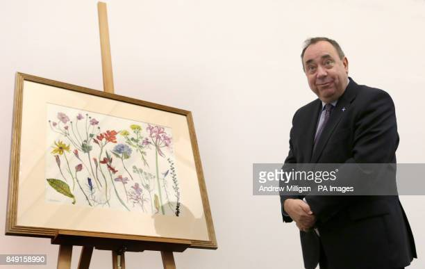 First Minister Alex Salmond at the unveiling of his Christmas card for 2012 at the Royal Botanic Garden in Edinburgh