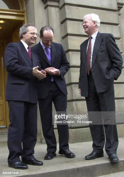 First Minister Henry McLeish met with Scottish National Party leader John Swinney and Scottish Liberal leader Jim Wallace before the launch of the...