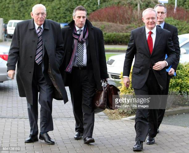 First Minister Ian Paisley Junior Minister Ian Paisley Deputy First Minister Martin McGuinness and Junior Minister Gerry Kelly arrive for the North...