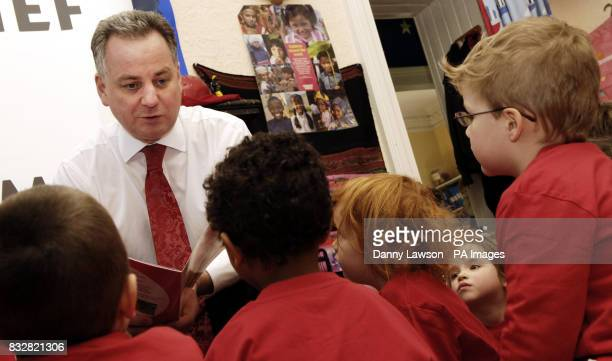 First Minister Jack McConnell reads a Comic Relief book to toddlers at Forbes Nursery in Edinburgh
