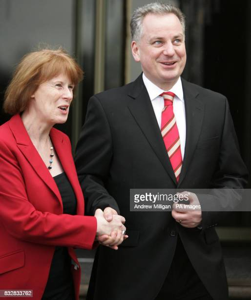 First Minister Jack McConnell with Sylvia Jackson after making his keynote speech at Labour's one day seminar at Dunblane Hydro