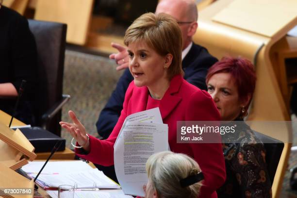 First Minister Nicola Sturgeon leads a debate in the Scottish Parliament on welfare cuts and the socalled 'Rape Clause' in child tax credit...