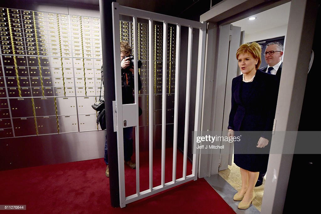 First Minister Nicola Sturgeon officially opens Scotlands first independent safe deposit box service in Glasgow on February 19 in Glasgow, Scotland. Based in the citys southside, Glasgow Vaults has been introduced in response to the major banks withdrawing the service that safeguards peoples valuable possessions.