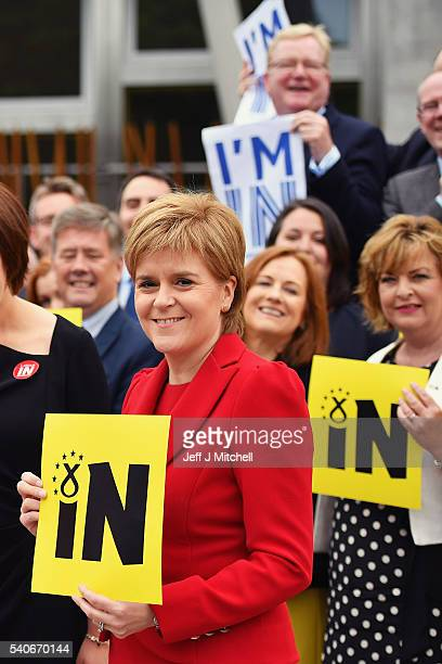 First Minister Nicola Sturgeon poses with Ruth Davidson leader of Scottish Conservatives Kezia Dugdale leader of Scottish Labour and ScottishScottish...
