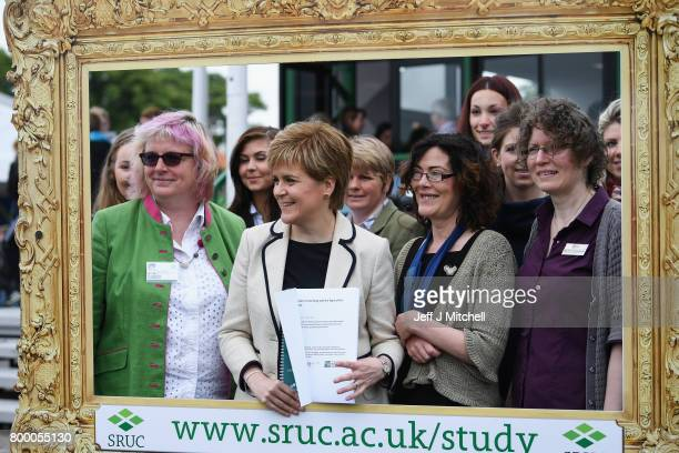 First Minister Nicola Sturgeon visiting the Royal Highland Show to discuss the impact of Brexit on the rural economy on June 23 2017 in...