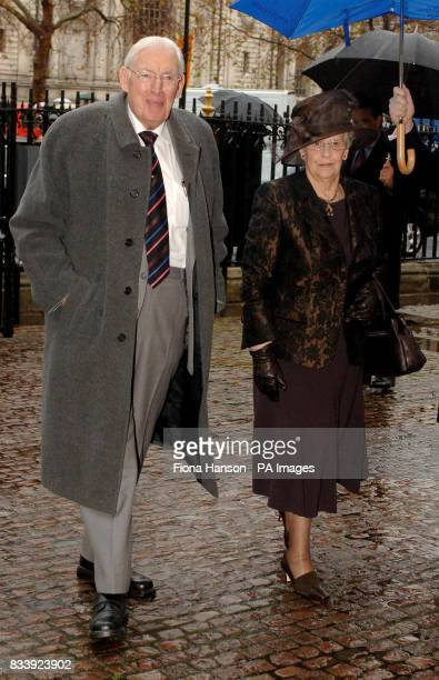 First Minister of Northern Ireland Dr Ian Paisley and wife Eileen arrive at Westminster Abbey London for a service of celebration to mark the diamond...