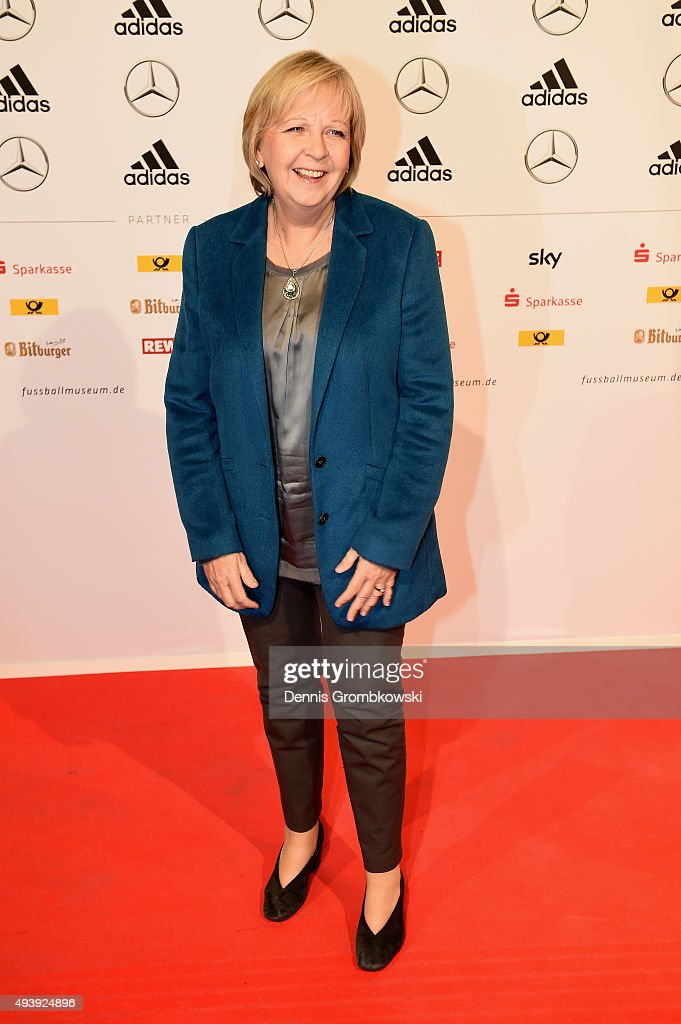 First minister of Northrine-Westphalia Hannelore Kraft (Social Democrats) arrives for the Opening Gala of the German Football Museum on October 23, 2015 in Dortmund, Germany.