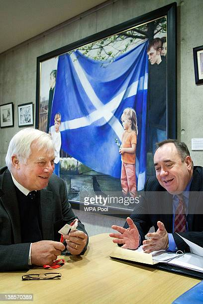First Minister of Scotland and leader of the Scottish National Party Alex Salmond meets with Lord Chris Patten Chair of the BBC Trust at Mr Salmond's...