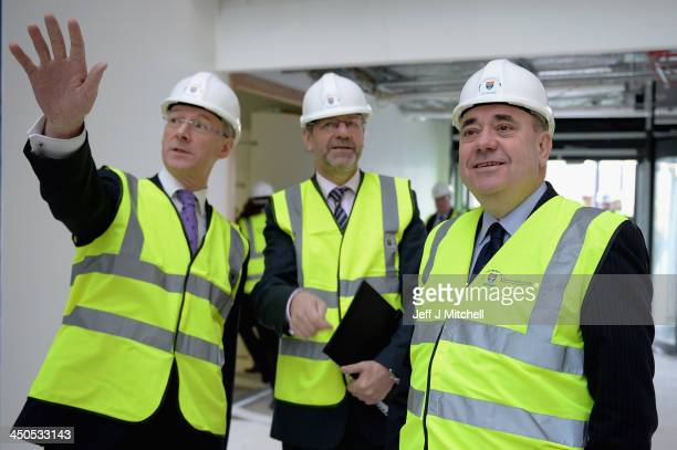 First Minister of Scotland and leader of the Scottish National Party Alex Salmond John Swinney Finance minister and Professor Peter Downes Principal...