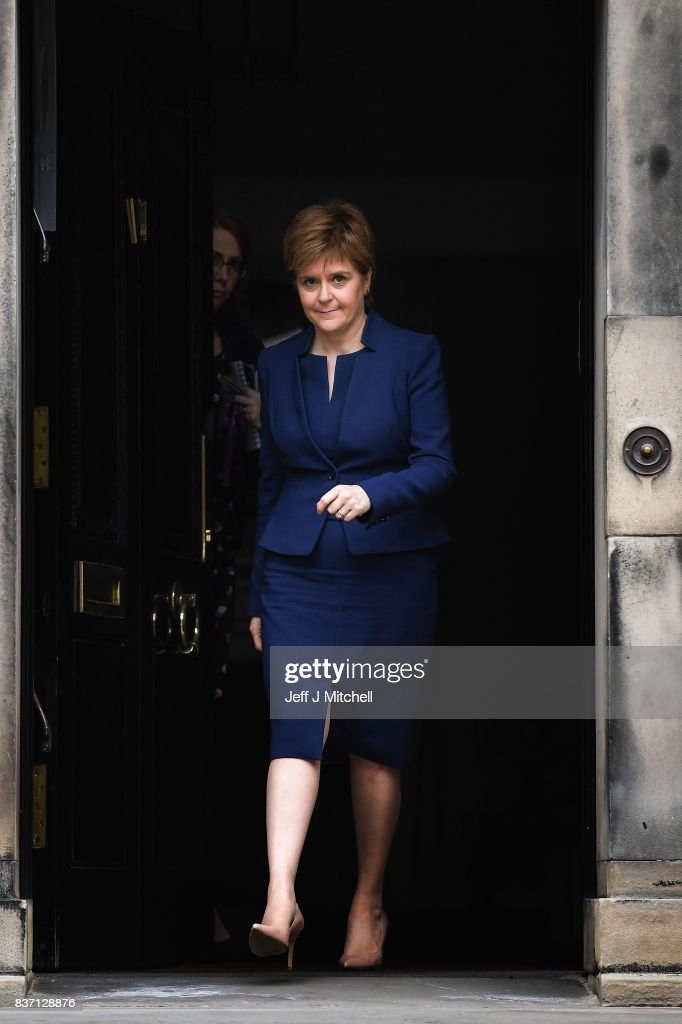 First Minister of Scotland Nicola Sturgeon and First Minister of Wales Carwyn Jones meetÊat Bute House on August 22, 2017 in Edinburgh,Scotland. The two First Ministers met in Edinburgh to discuss how the two Governments can work together to protect devolution.