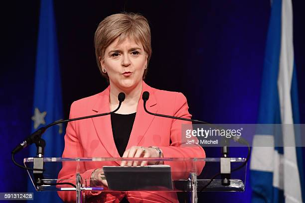 First Minister of Scotland Nicola Sturgeon and her cabinet host a public discussion for EU nationals living in Scotland at the Corn Exchange on...