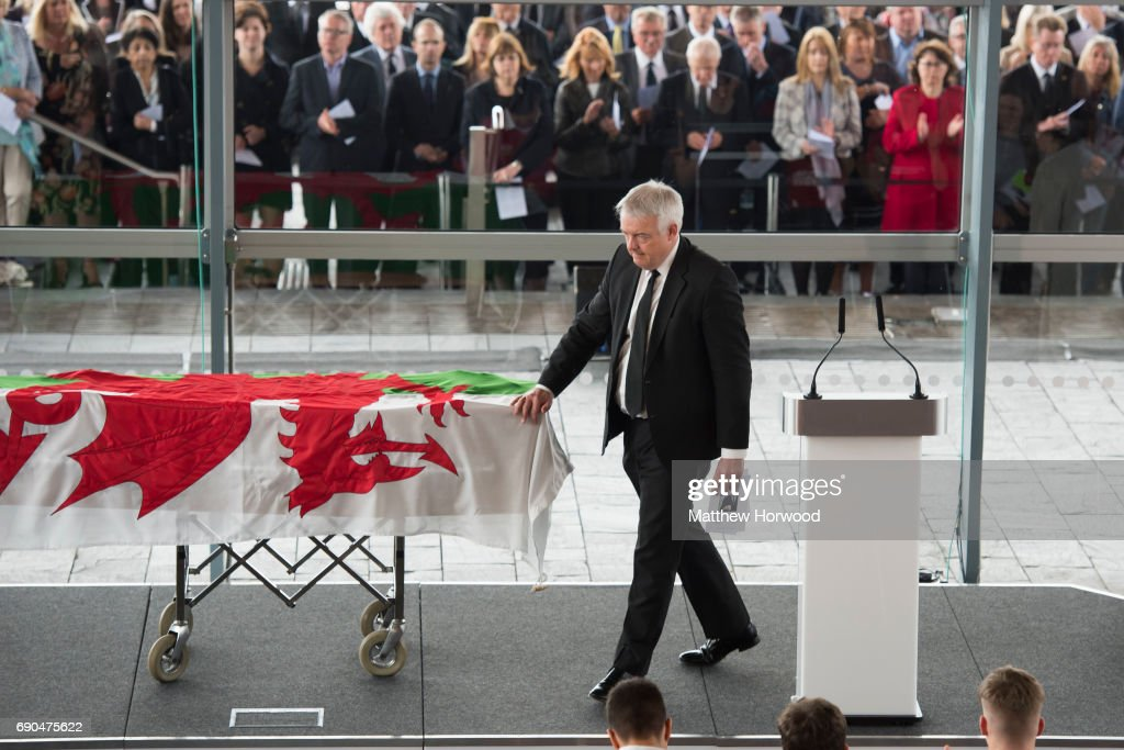 Funeral Takes Place Of Former Welsh First Minister Rhodri Morgan