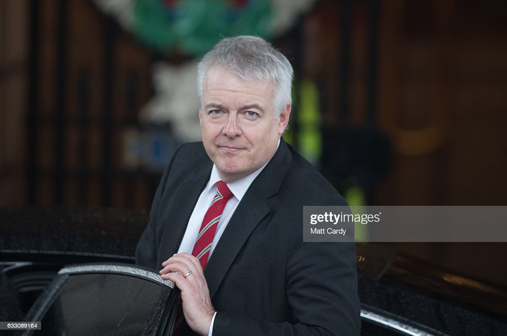 First Minister of Wales Carwyn Jones leaves Cardiff City Hall after a committee (JMC) which includes the leaders from Westminster, Cardiff, Edinburgh and Belfast on January 30, 2017 in Cardiff, Wales. The Prime Minister visit to Cardiff today is the first meeting of the Joint Ministerial Committee since she announced her intention to negotiate a 'hard' Brexit.