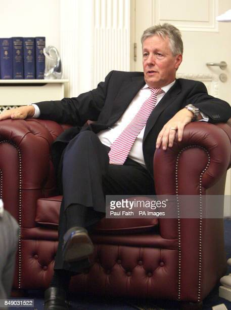 First Minister Peter Robinson speaking in his office at Stormont Castle Belfast as he signalled his intent to lead the DUP into the next Assembly...