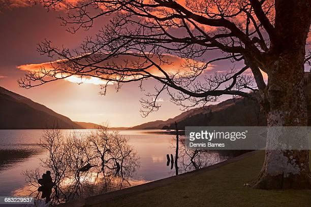 First morning light, sunrise,  Loch Lomond