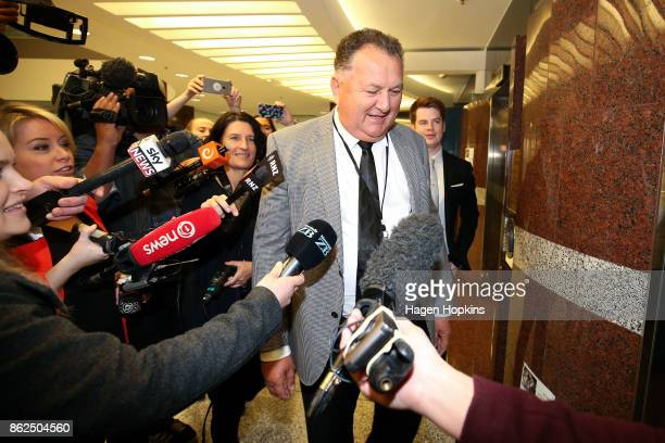 First MP Shane Jones arrives as coalition discussions continue at Parliament on October 18 2017 in Wellington New Zealand Neither the National nor...
