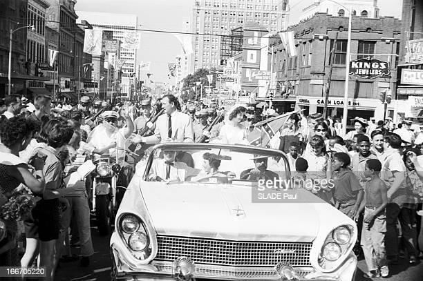 First Of The Film The Riders By John Ford At Gettysburg Le 19 juin 1959 aux État Unis à GETTYBURG à occasion de la première du film 'les Cavaliers'...