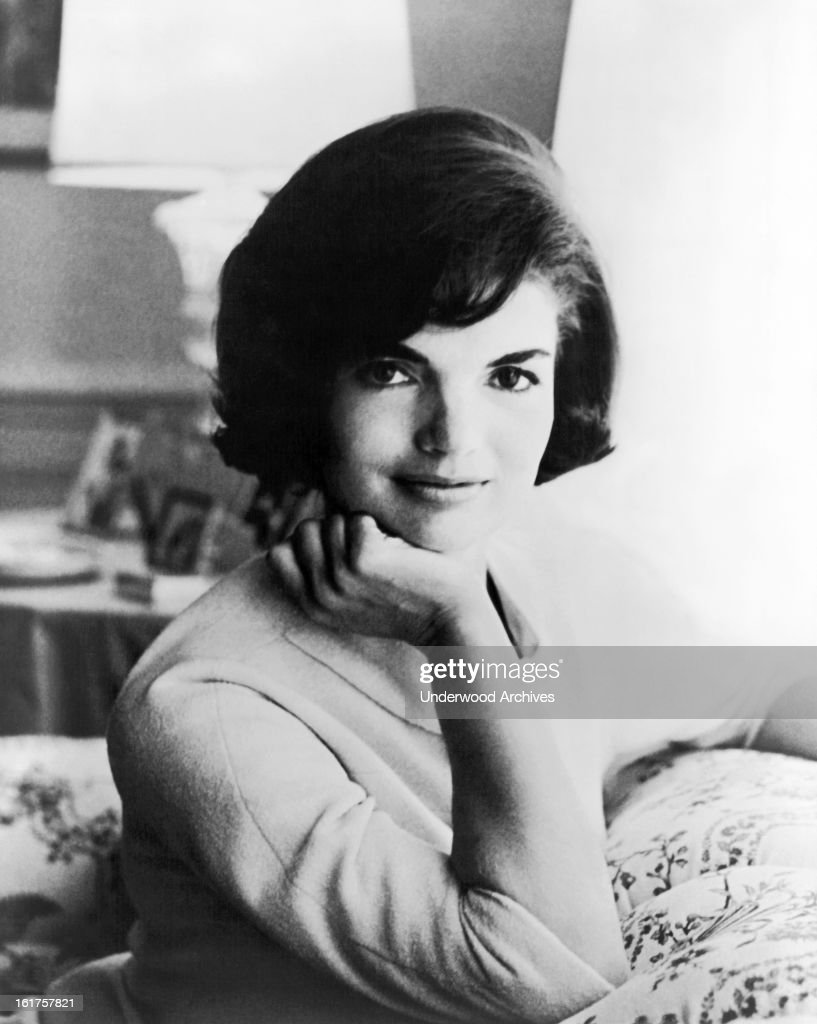 First official White House photograph of US First Lady Jaqueline Kennedy, Washington DC, 1961.