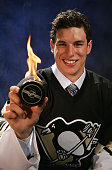 First overall draft pick Sidney Crosby of the Pittsburgh Penguins poses for a portrait during the 2005 National Hockey League Draft on July 30 2005...