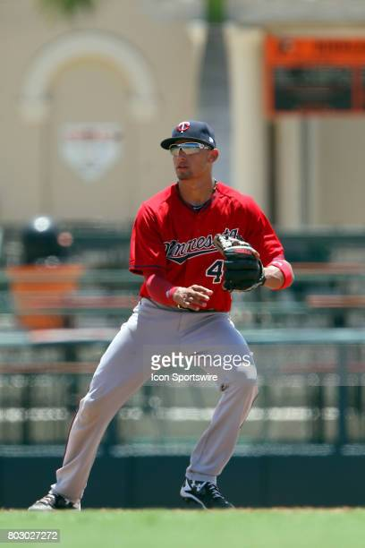2017 first overall pick in the Major League Baseball Amateur Draft Royce Lewis of the Twins at shortstop during the Gulf Coast League game between...