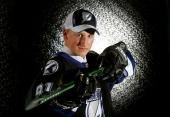First overall pick Steven Stamkos of the Tampa Bay Lightning poses for a photograph after being selected in the 2008 NHL Entry Draft at Scotiabank...