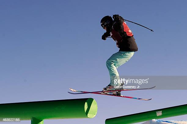 First place finisher Julia Krass of the United States competes during the Women's Slopeside competition on day two of the Visa US Freeskiing Grand...